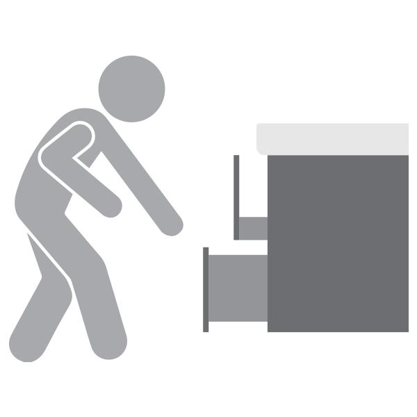 Wie hoch soll ich mein Badmöbel montieren?